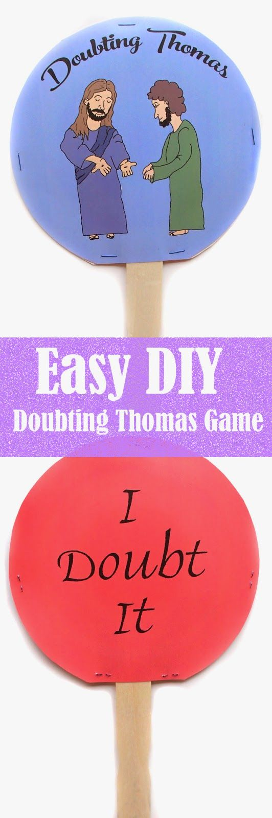 Bible Craft: DIY Doubting Thomas Game by Easy Breezy Sunday School