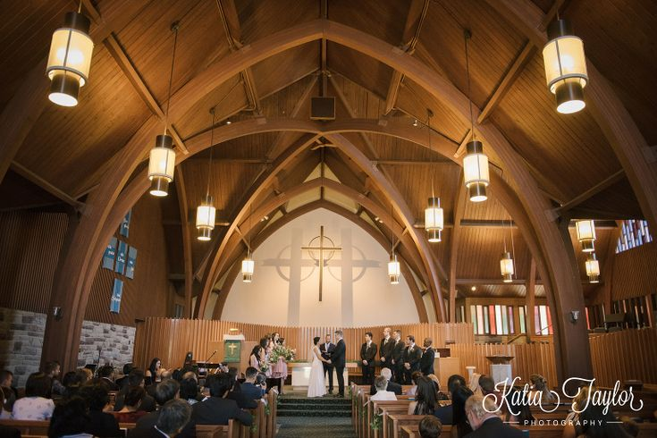 Wedding ceremony. St. Giles Kingsway Presbyterian Church. Toronto.