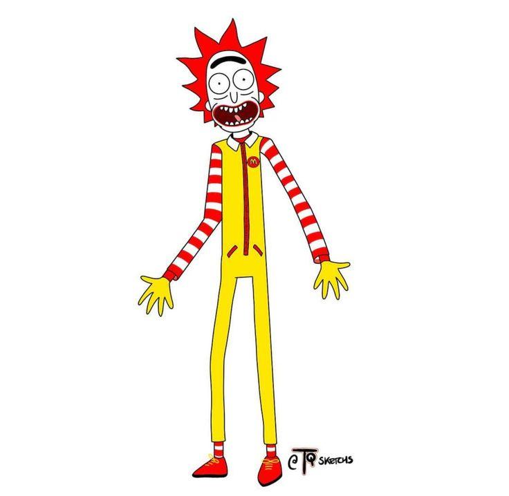 Rick and Morty x Ronald McDonald
