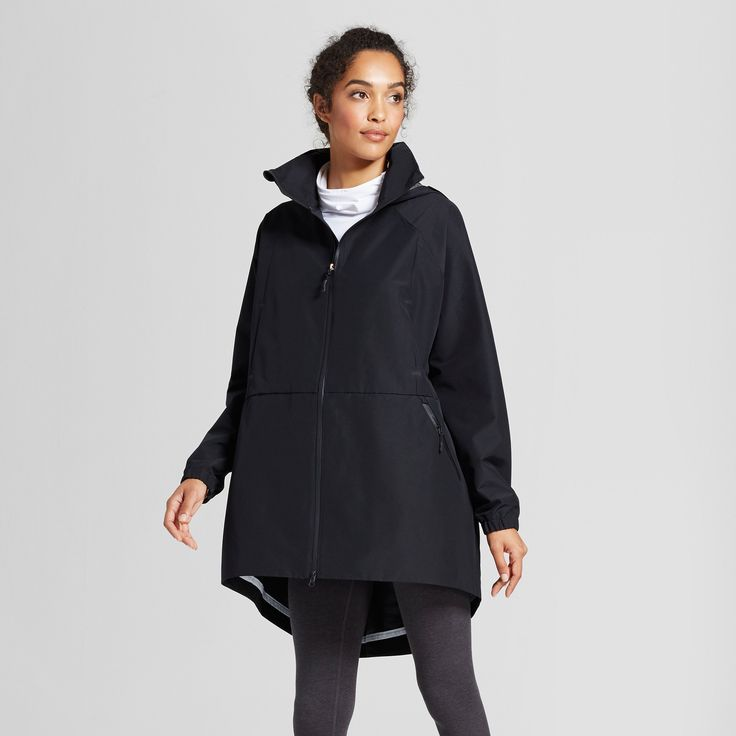 Women's Oversized Rain Parka with Seam Sealing - C9 By Champion Black S