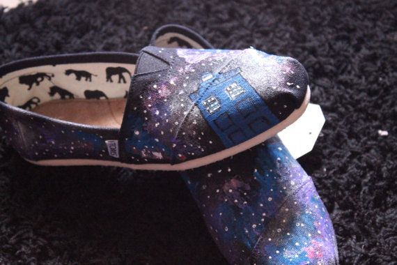 Doctor Who Tardis Lost in space Toms or by InfiniteInspiration, $85.00