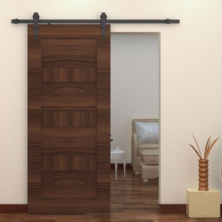 Create Beautiful Space Using Barn Doors Interior: Interior Barn Door Hardware For Barn Doors Interior With Interior Paint Ideas Also Wood Flooring And Home Accessories With Sofa And Ottoman Plus Side Table With Modern Barn Doors For Interiors