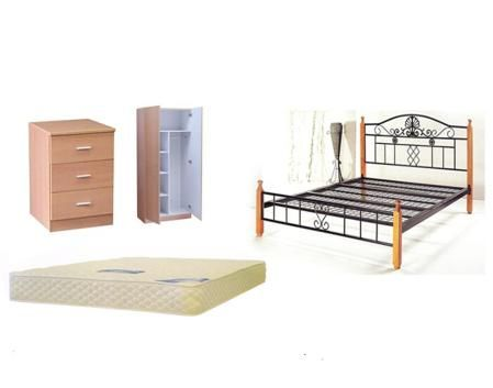 Hd Bedroom Package Double Bed With Mattress Suites