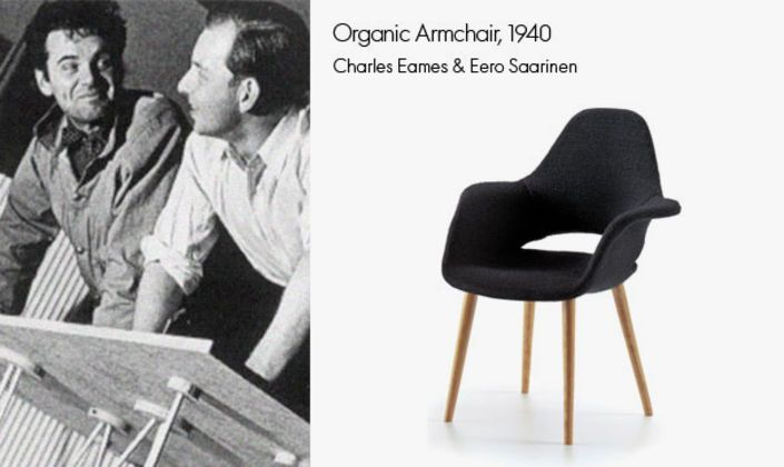 The Organic Armchair was the first piece that Charles Eames & Eero Saarinen have ever created together. It even won them a prize.
