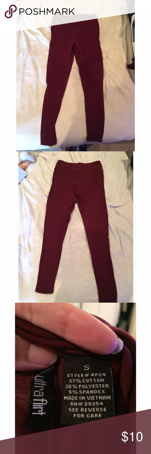 Leggings These burgundy leggings are PERFECT for this fall season!  they are a size small but stretch and can be worn if you are between M/L like me!  Ultra Flirt Pants Leggings