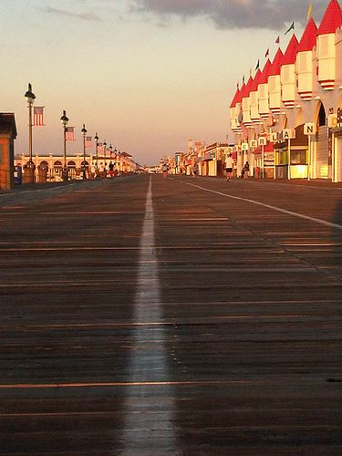 Boardwalk Ocean City, NJ. 6th Street at Wonderland.