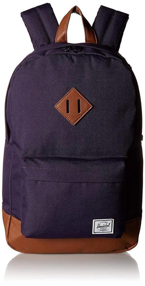 27af94a26d2 Herschel Heritage Mid-Volume Backpack Purple Velvet Tan Synthetic Leather  Bag  Herschel  Backpack  Velvet  Purple  Bags  womensfashion  art  cute   ideas   ...