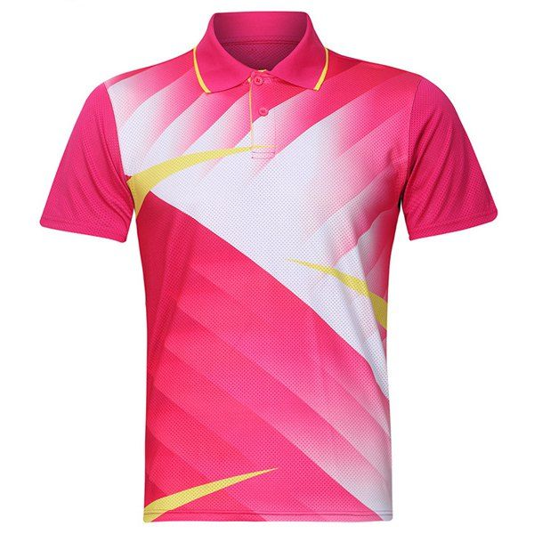 Turn Down Collar Quick Dry Men's Badminton Training T-Shirt #women, #men, #hats, #watches, #belts, #fashion, #style