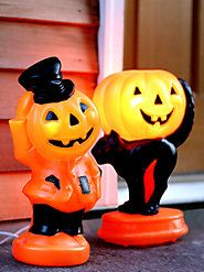Classic light-up figures conjure up the spirit of Halloweens past. They are made right here in the U.S. from original 1960s plastic molds.