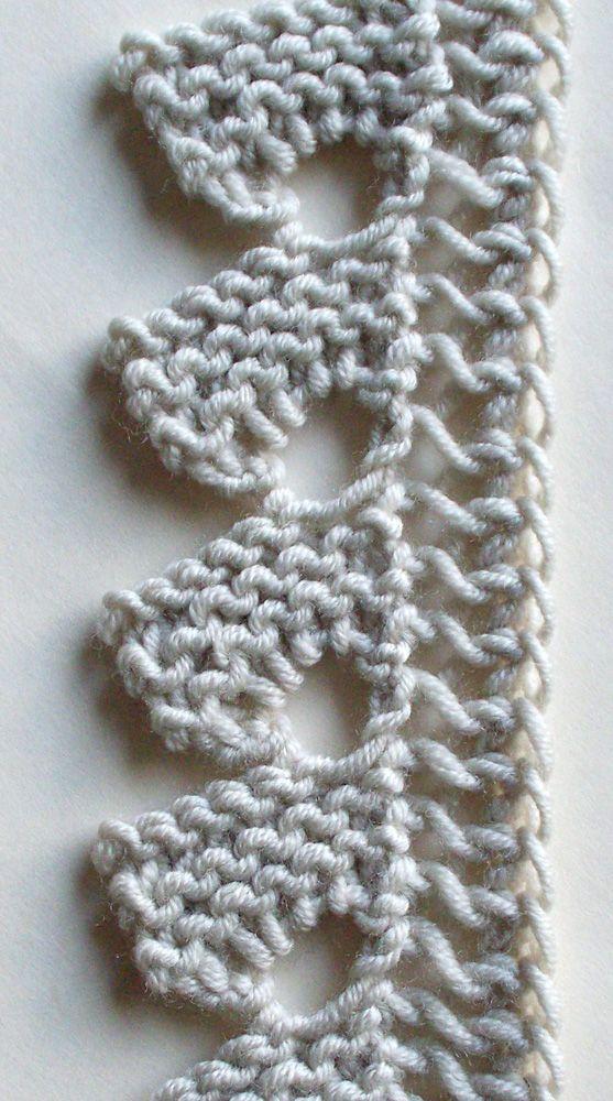 Knitting Stitches Lace Edging : Nasturtium Edging, v2 swatch muestras de tejidos calados Pinterest Char...