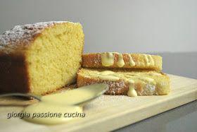 giorgia passione cucina: plumcake con amaretto e salsa zabaione