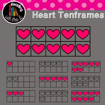 Are you creating resources for your classroom or your TPT store? Try these heart themed ten frames perfect for your Valentines Day resources. Both Colour/color and b&w versions are included! Check out the preview. Please use enclosed button and link to my store when using. ***************************** Counting Hearts Bundle Hearts Tallies Hearts Ten Frames Counting Tree Hearts Heart Playing Cards ***************************** Before you pass on this product, if it's not quit...
