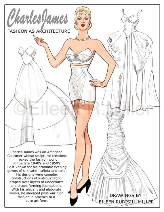 128 best Paper Dolls Designer Fashions 20th Century images on - sample paper doll