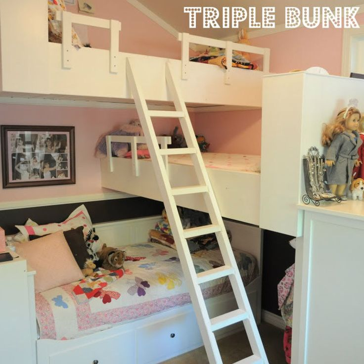 Girls' Room Triple Bunk Bed