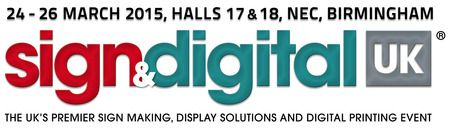 Sign & Digital UK 2015 On March 24-26, 2015 at 10:00 am to 4:30 pm at NEC Birmingham, Birmingham, West Midlands, B40 1NT, United Kingdom. The leading UK event for sign making, display solutions and digital printing, Sign & Digital UK takes place 24-26 March 2015 at NEC, Birmingham, and will host 180+ suppliers and thousands of visitors.Tickets: http://atnd.it/17291-1, Category: Exhibitions, Price: Visitor TicketsGBP FOC
