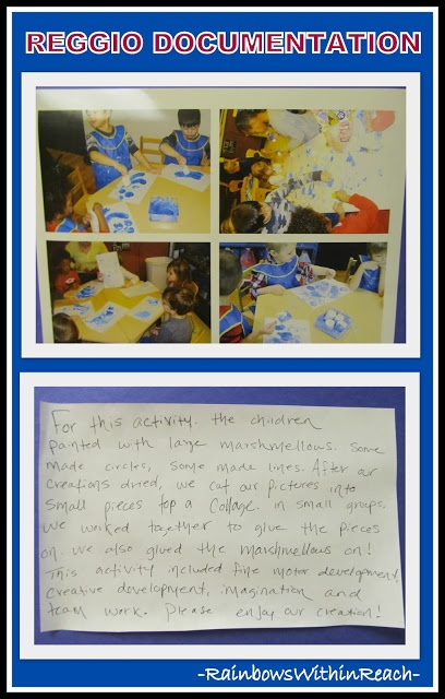 more documentation ideas to show what children are learning & document progress