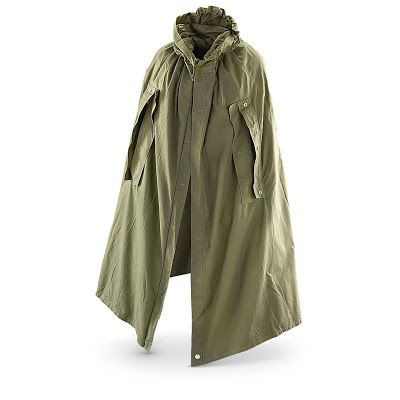 military surplus rain capes (also known as zelts, zeltbahns, plasch-palatkas, palatkas, cloak-tents and shelter-halves)
