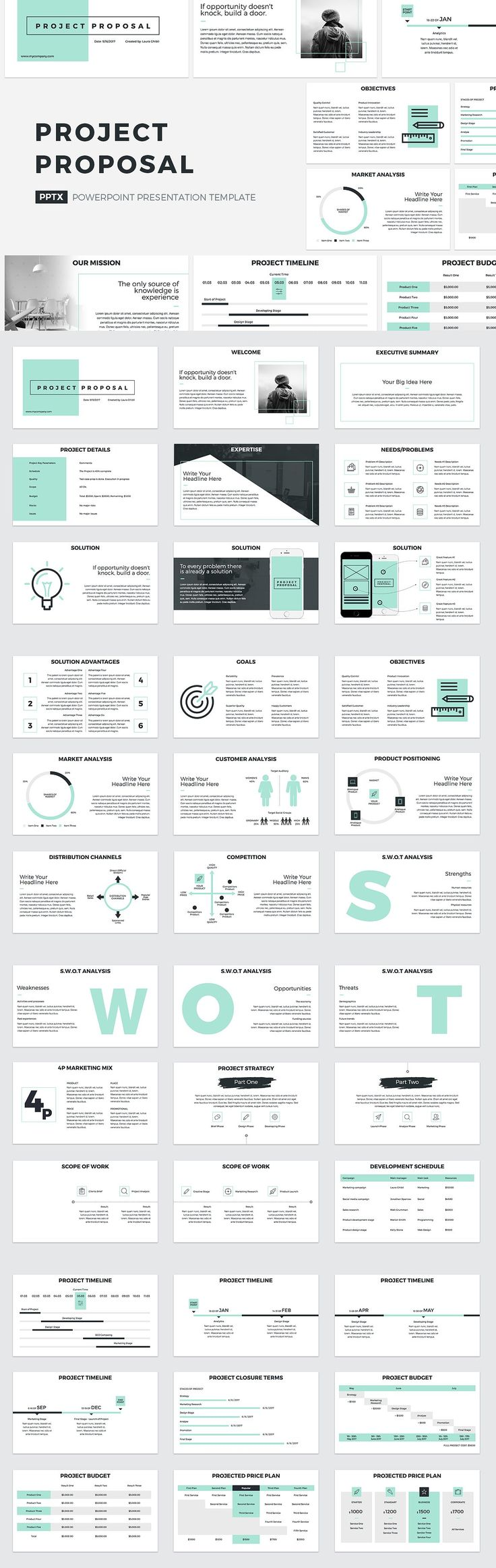 Project Proposal PowerPoint Template PDF