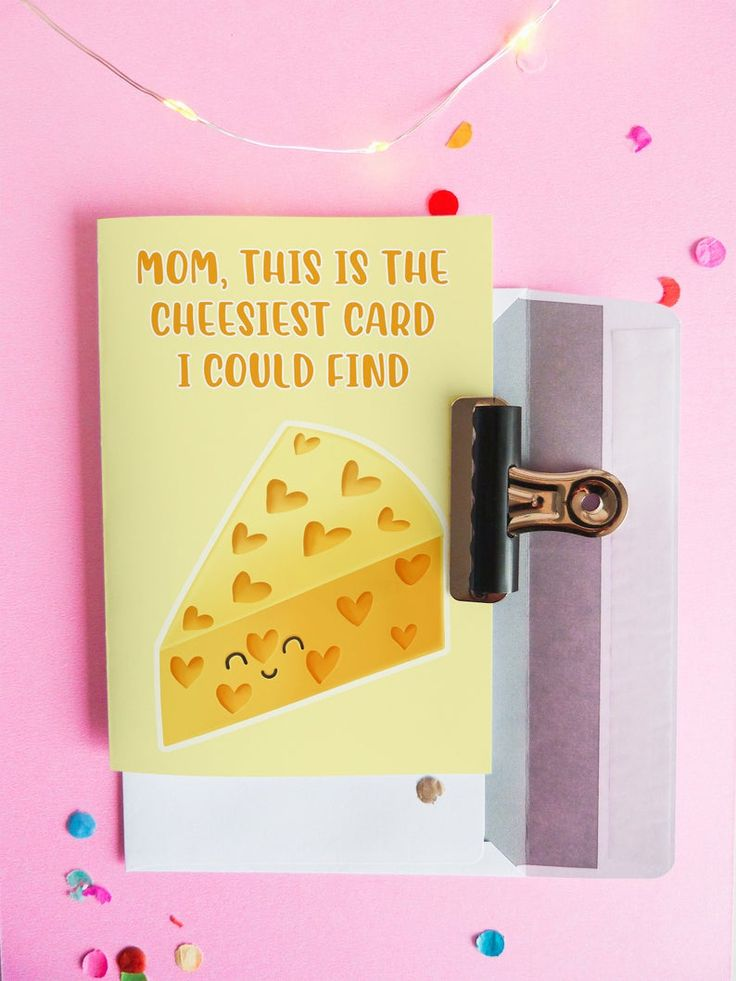 Cheese card funny mothers day card funny love card in