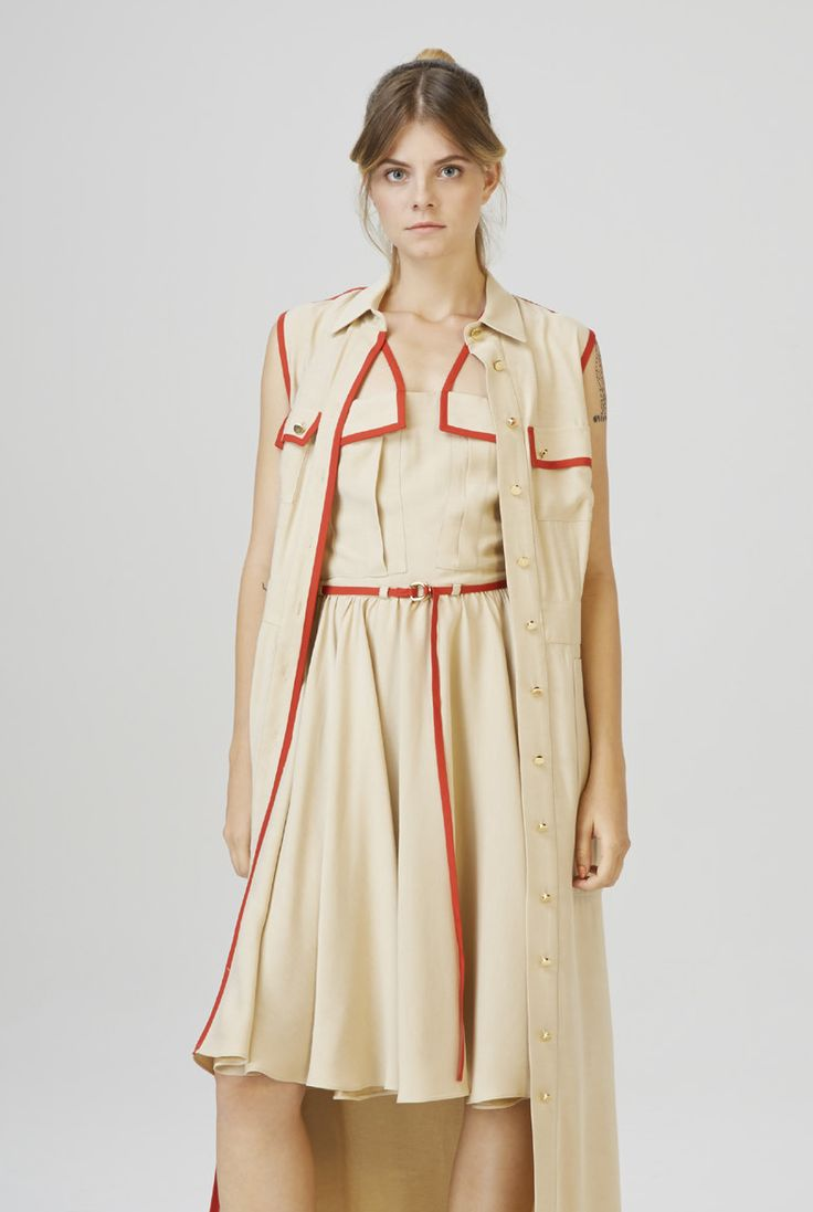 ALSOORS - long shirt  LELLE - multi strap dress