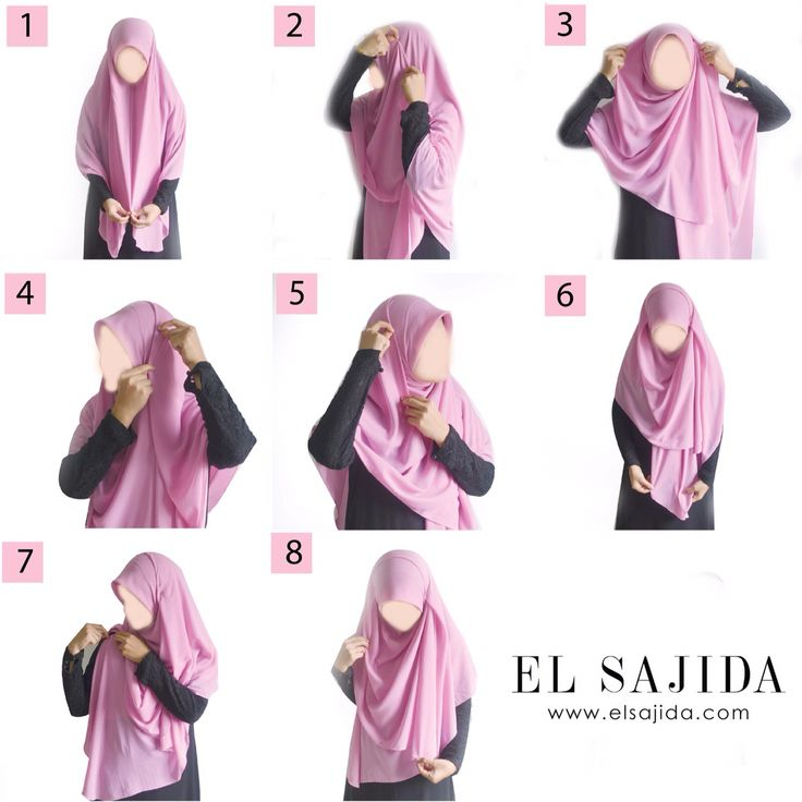 Sweet & modest style for wide square hijab