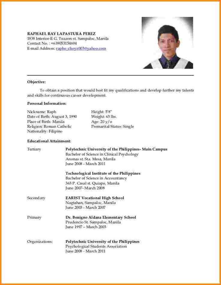 Resume Resume Format Philippines 2014 best 20 latest resume format ideas on pinterest good updated test samurai update free