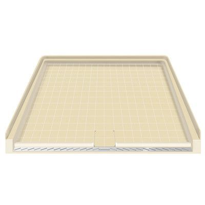 """Transolid 63.5x37.75 Solid Surface Barrier Free Shower Base Size: 3"""" H x 39.5"""" W x 37.75"""" D, Finish: Storm"""