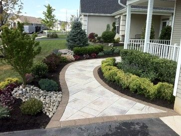 Paver walkway traditional landscape