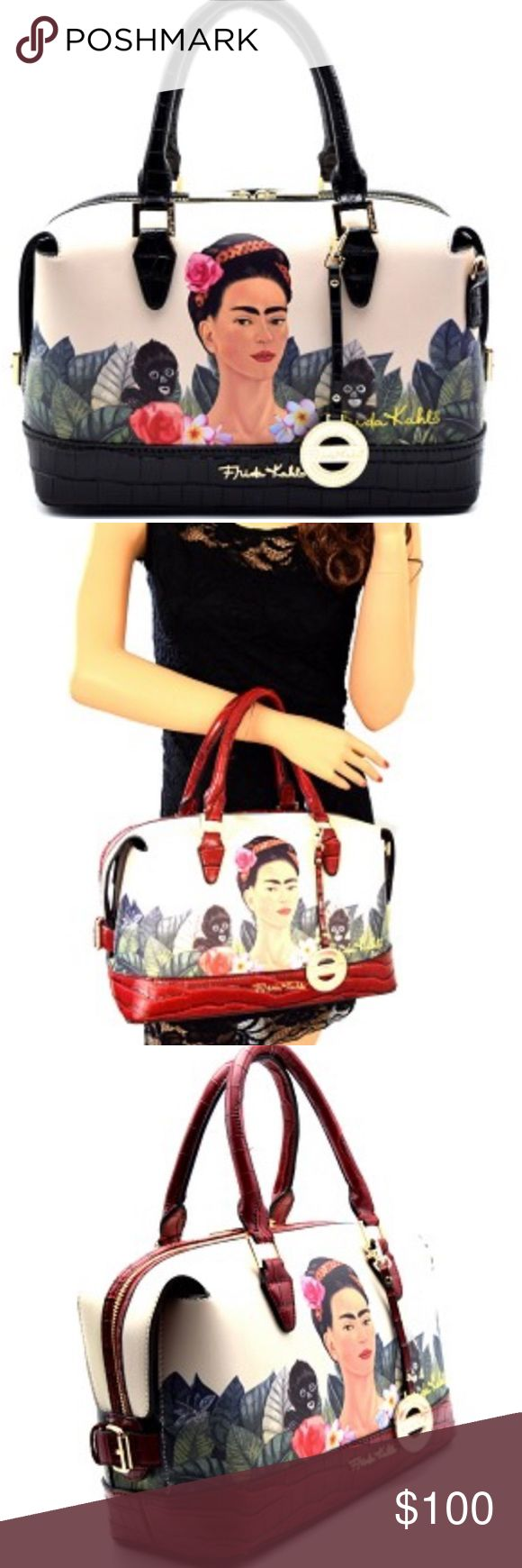 Black Frida Kahlo authentic bag! New with tags! Frida Kahlo Bags Satchels