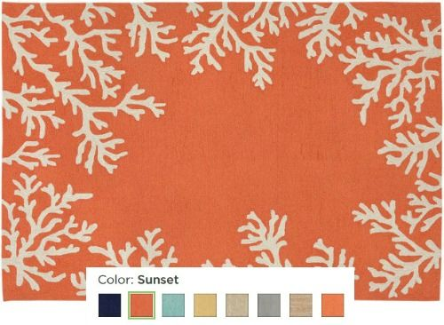 Coastal Coral Rug In Different Colors To Fit Your Style... Http:/