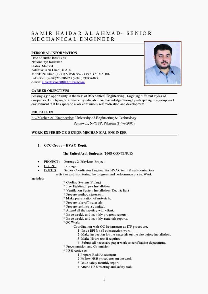 25 mechanical engineer resume template in 2020 with