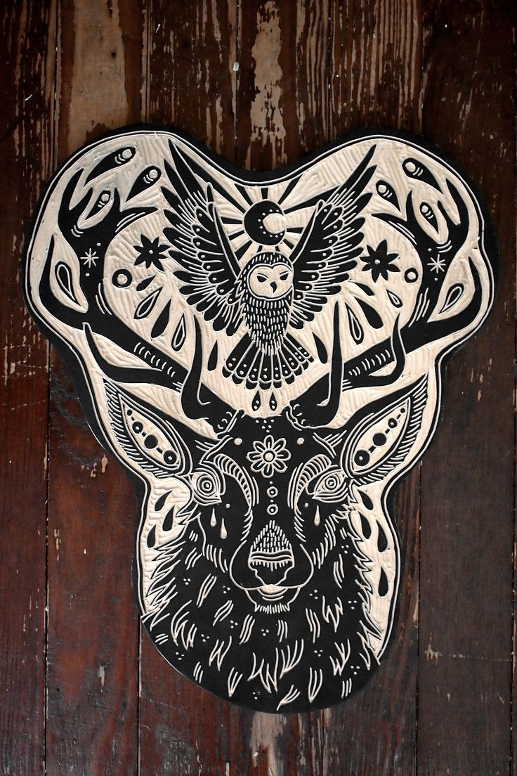Deer and Owl for Ben. 2013