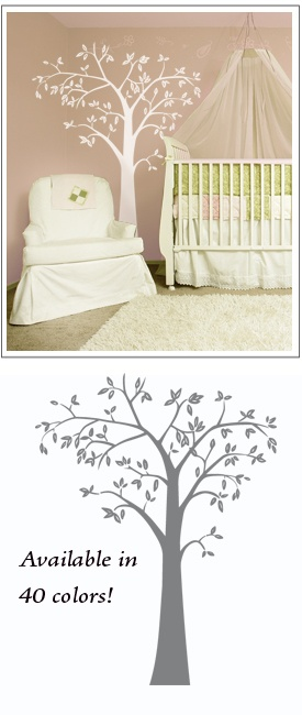 """Neu Tree wall decal sticker   Looking for that perfect designer look for your decor? Check out this 7 foot tall tree decal, designed exclusively for our customers! This light style wall decal adds natural depth and detail to any decor. And just like our other styles, this wall sticker is completely removable, peel and stick, and comes in 40 different colors!   Neu Tree- $60.00 7 foot (7') tall tree decal  60"""" wide"""