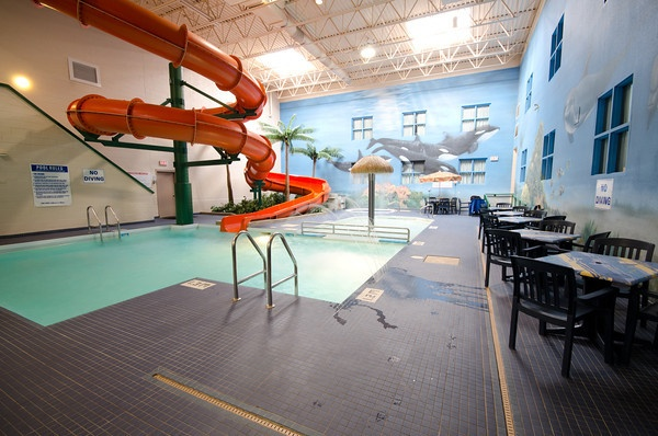 Splasher's Indoor Pool & Waterslide at Canad Inns Garden City http://www.canadinns.com/stay/stay-main.php?entry_id=8567