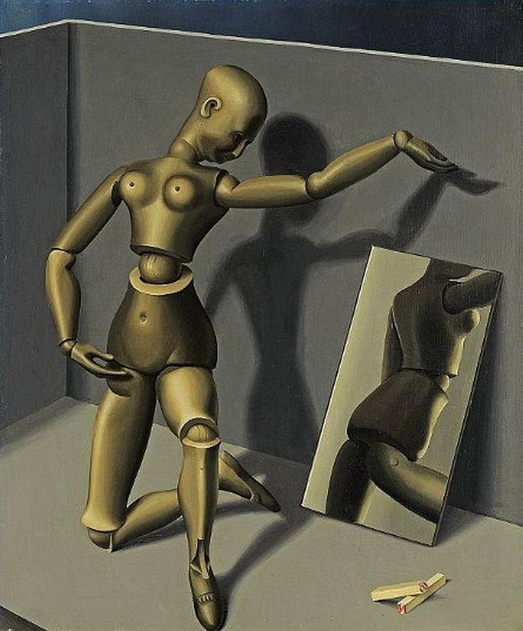 "#Artwork #painting ""Puppet"", 1930 by Swiss #artist Niklaus Stoecklin (1896 - 1982) #graphicdesign"