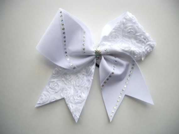 CHEER BOW WHITE. $12.00, via Etsy.