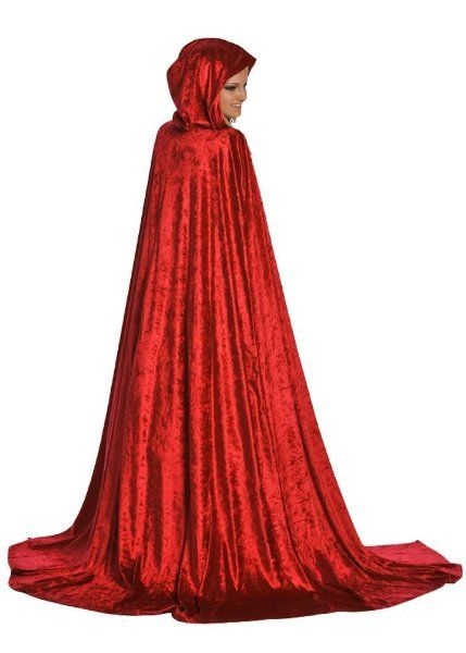 Deluxe Little Adventure's Adult Long Red Velvet Cloak with Hood:Amazon:Toys & Games