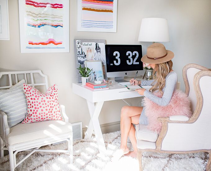 BOSS BABE OFFICE in 2019 Home office decor, Blogger home