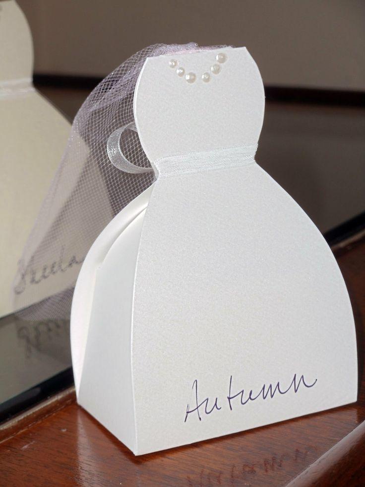 Paper Wedding Dress Box Template