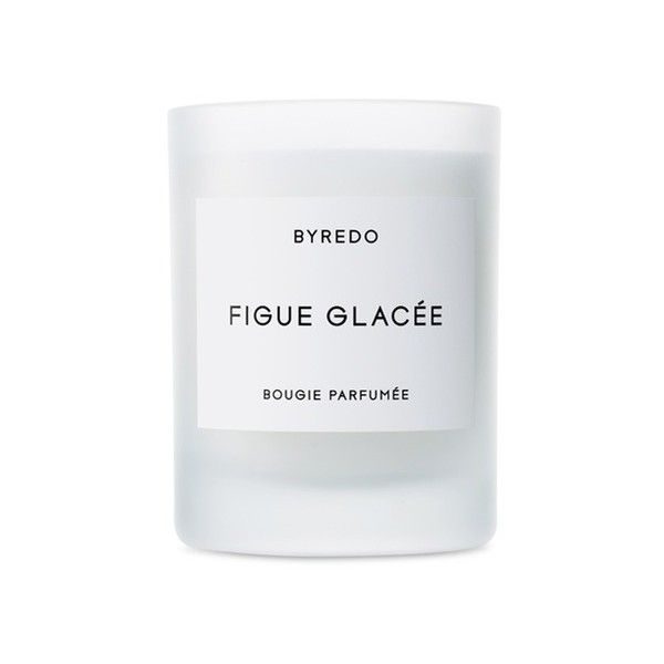 Byredo Figue Glacée Fragranced Candle (115 CAD) ❤ liked on Polyvore featuring home, home decor, candles & candleholders, asian home decor, fragrance candles, oriental home decor, vanilla scented candles and byredo