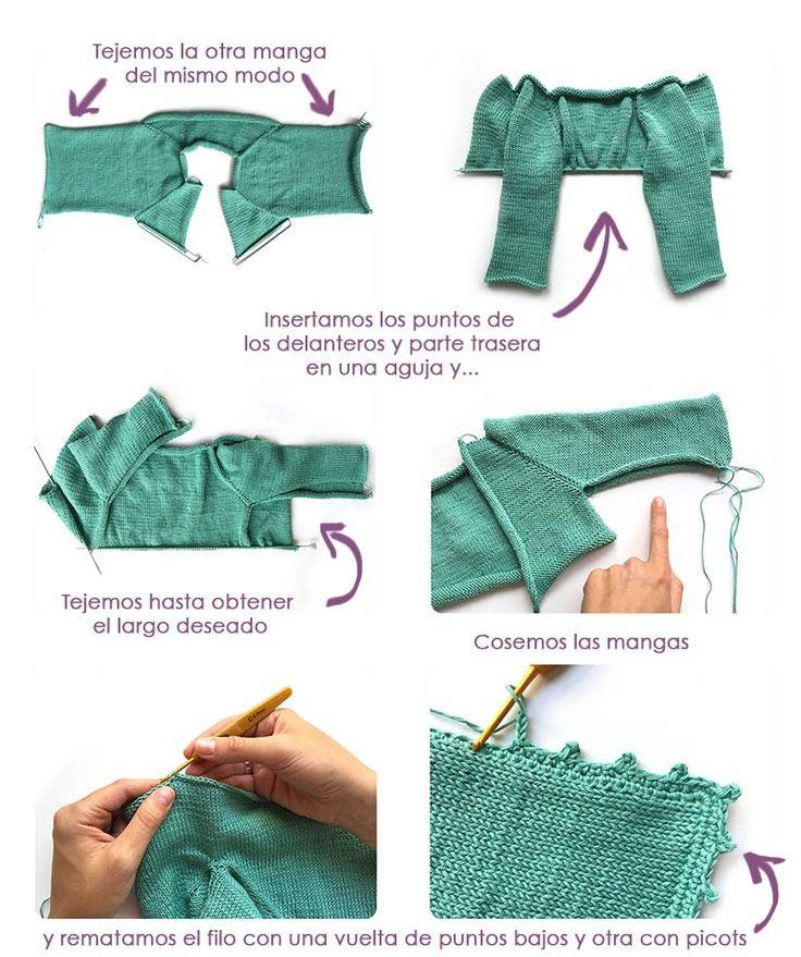 17 mejores ideas sobre patr n para chaleco de ganchillo en - Puntos de agujas de lana ...