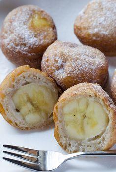 postup Kousky banánů ve skořicovém těstíčku - smažená pochoutka