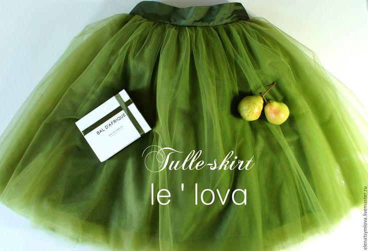 Купить Юбка-пачка из мягкого еврофатина Лавровый венок - дизайнерская одежда…