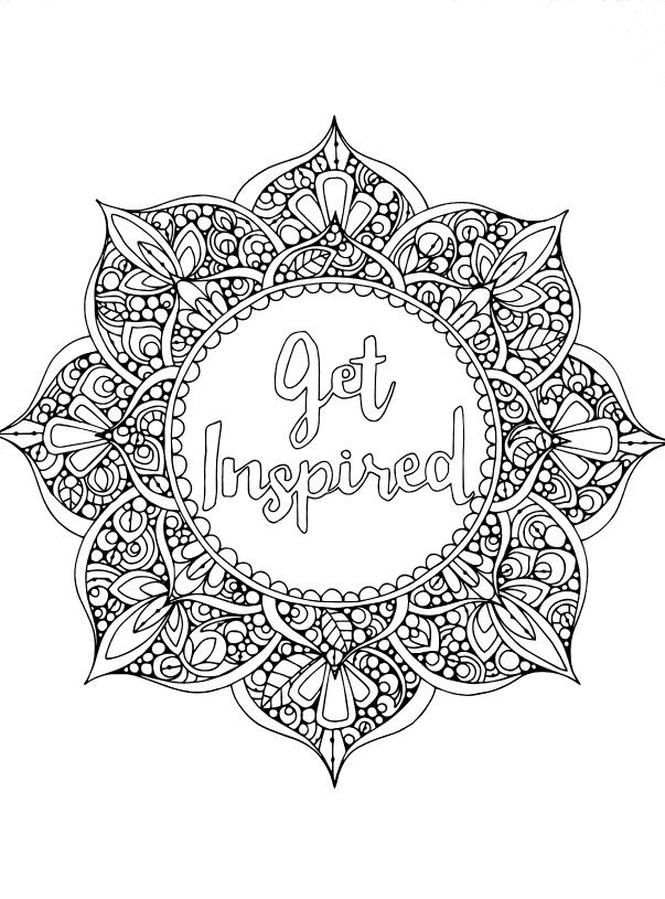 Page Scanned From The  U0026quot Creative Coloring Mandala
