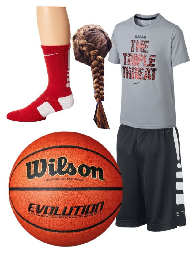 """BasketBall Practice"" by bjarsenault2015 ❤ liked on Polyvore featuring NIKE"