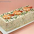 Terrine de Saint-Jacques, saumon et crevettes à la crème citronnée - Péché de gourmandise