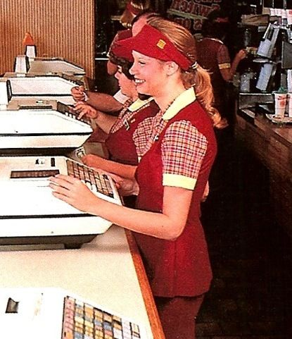 Burger King uniform, my first fast food job 1984 I wore the same uniform