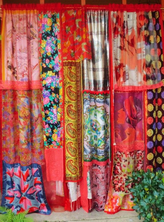 gypsy curtains Think U could also use cloth from any style of material for kids rooms or where ever ... darling idea