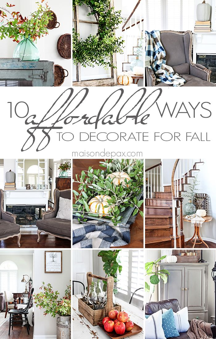 10 tips for affordable fall decorating: such creative budget friendly ideas! | maisondepax.com