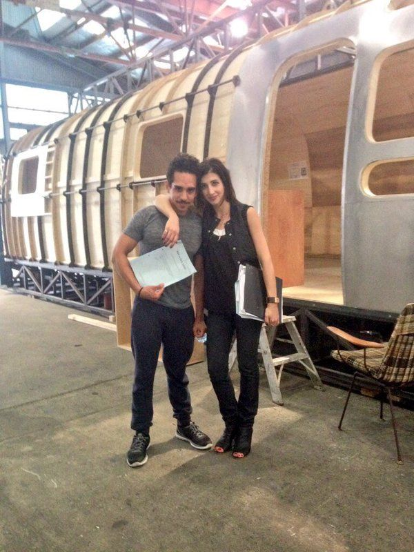 Ray Santiago and Dana DeLorenzo at the first rehearsal for episode 1's trailer fight. Ash vs Evil Dead